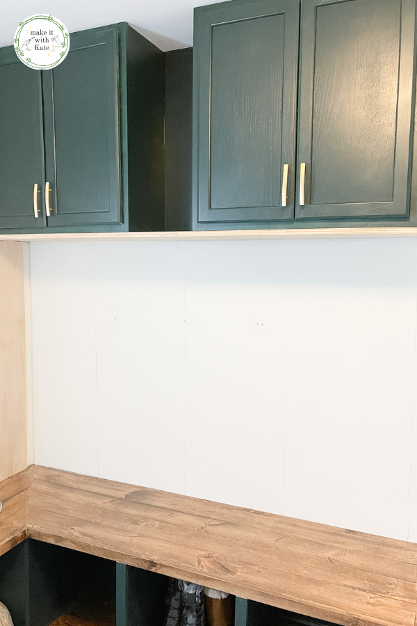 These DIY mudroom lockers are the perfect way to add storage and functionality to any wall space. Plus, see the bench and cabinets here too. #diymudroom #mudroombuild #mudroomlockers #entrywaylockers #buildingplans