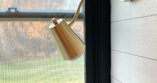 DIY Wall Sconce from a Table Lamp
