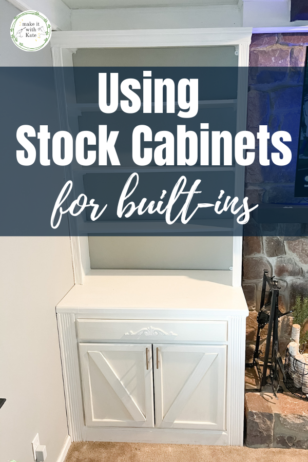 Using stock cabinets for built ins is a great time saver, and the perfect way to make your custom project easier. #stockcabinets #diybuiltins #builtincabinets #diy