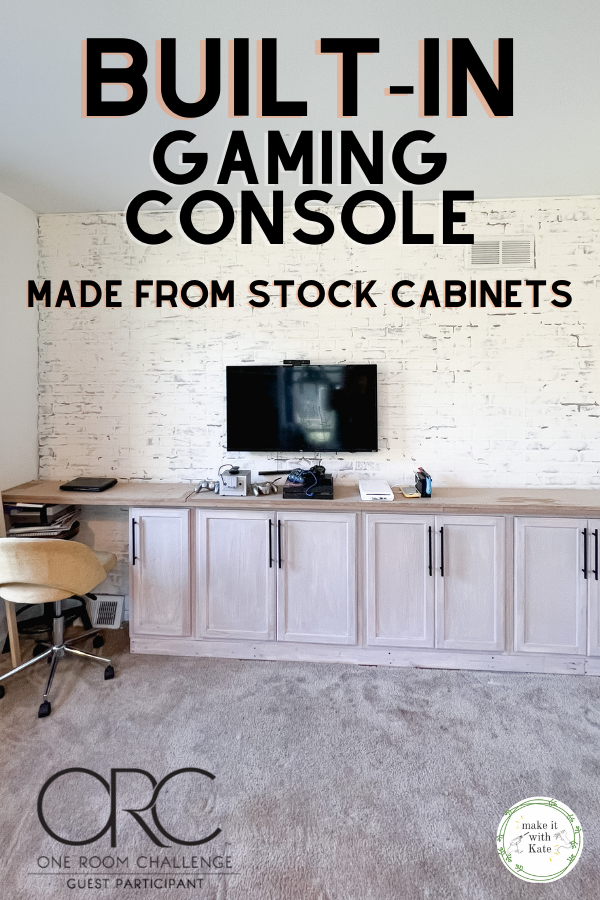 This built in gaming console from stock cabinets is a simple and straightforward build, great for beginners with an advanced look.