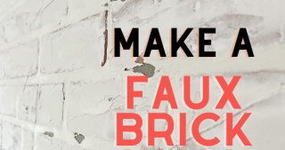 DIY Faux Brick Wall from Wall Paneling: Fall One Room Challenge Week 2